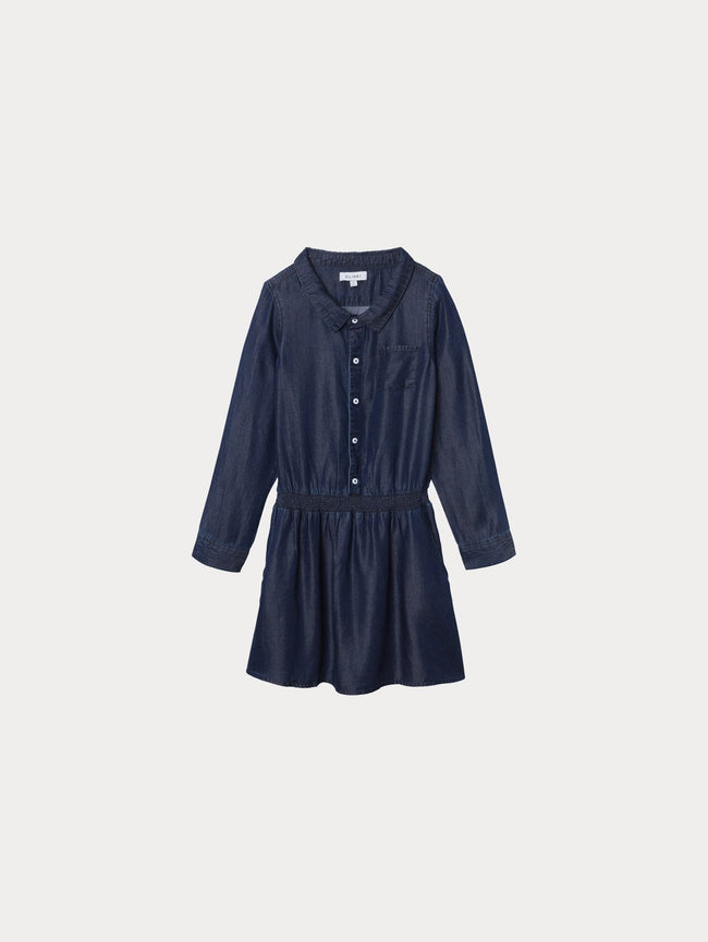 Toddler Girls - London Toddler Dress | Dark Rinse - DL1961