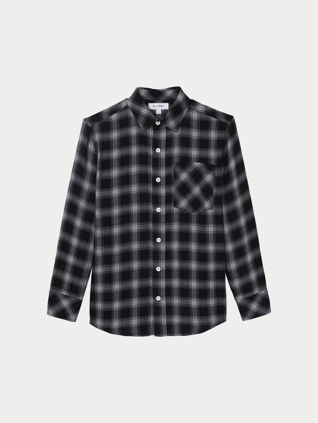 Kids Jacket - Ash Unisex Shirt | Black Plaid - DL1961