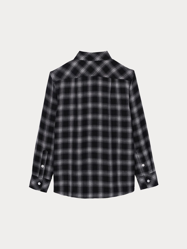 Ash Unisex Shirt | Black Plaid - DL1961