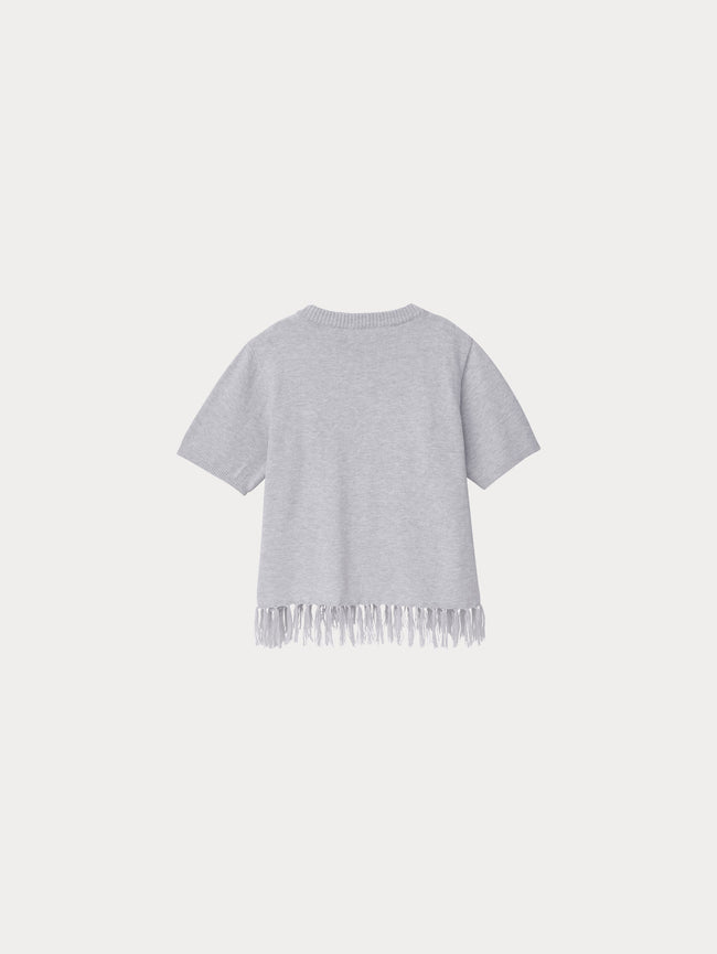 Toddler Girls - Ella Toddler Sweater | Light Grey - DL1961