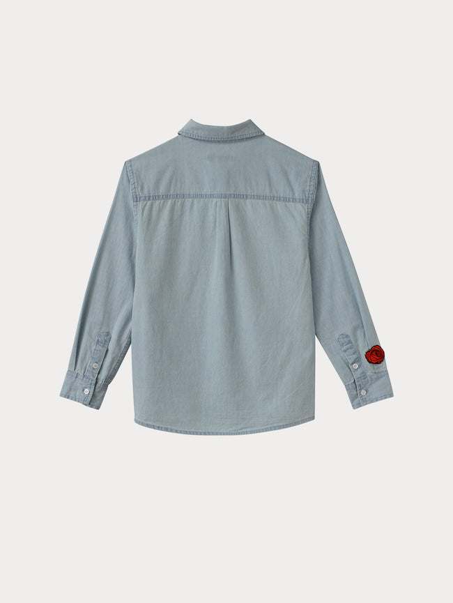 Kids Jacket - Olivia Shirt | Bleached - DL1961