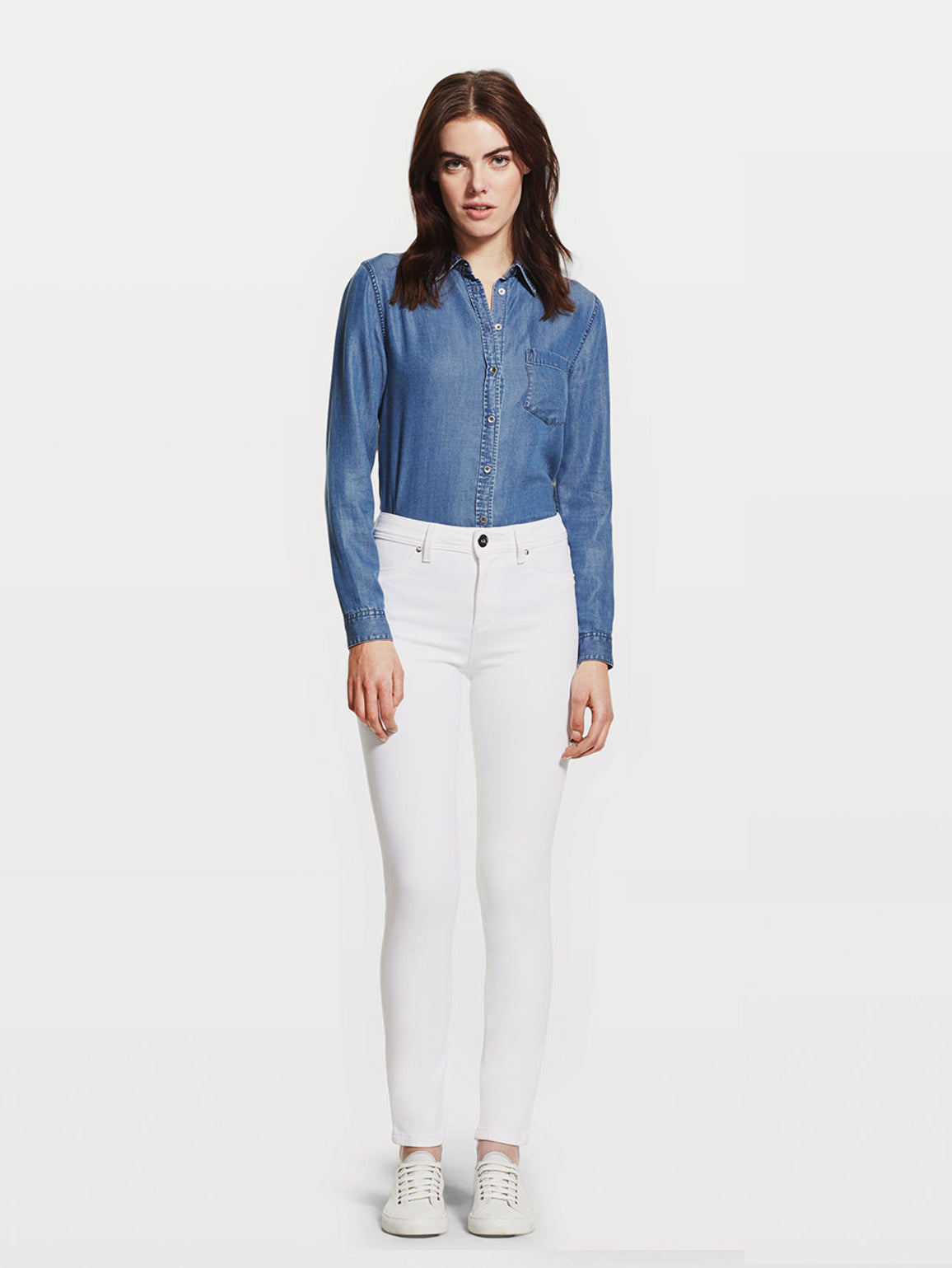 Image of Nina High Rise Skinny / Milk