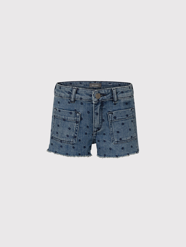 Lucy Toddler Girls Short | Spotted