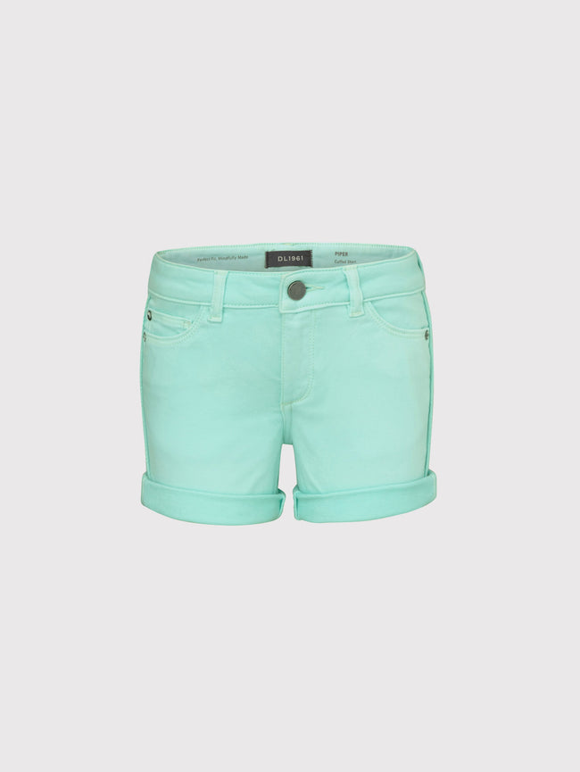 Piper Toddler Girls  Cuffed Short | Foam Green