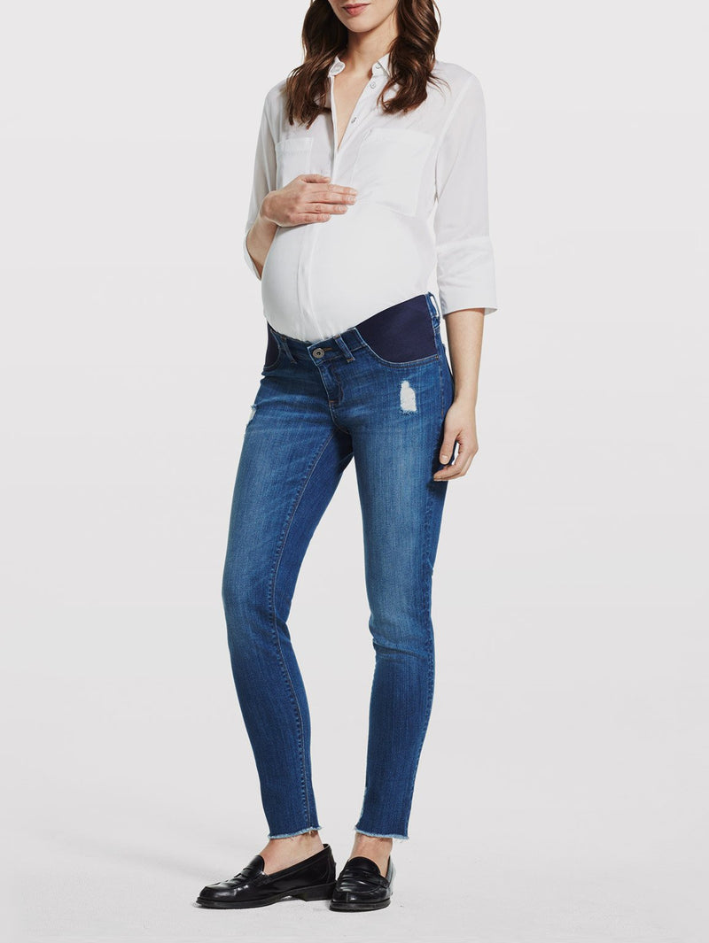 Lara Maternity Mid Rise Cropped Flare | Roslyn
