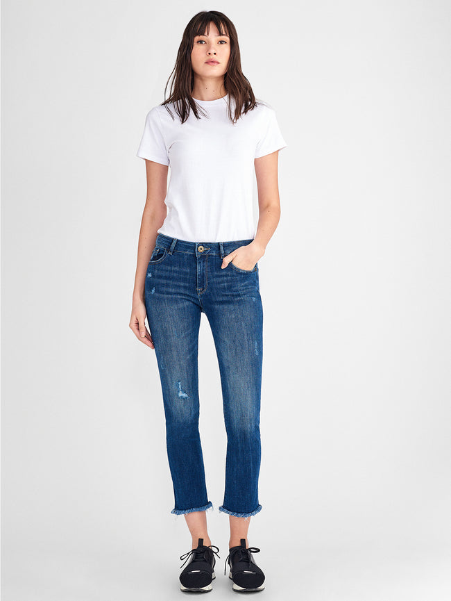 Mara Ankle Mid Rise Straight | Ravine DL 1961 Denim