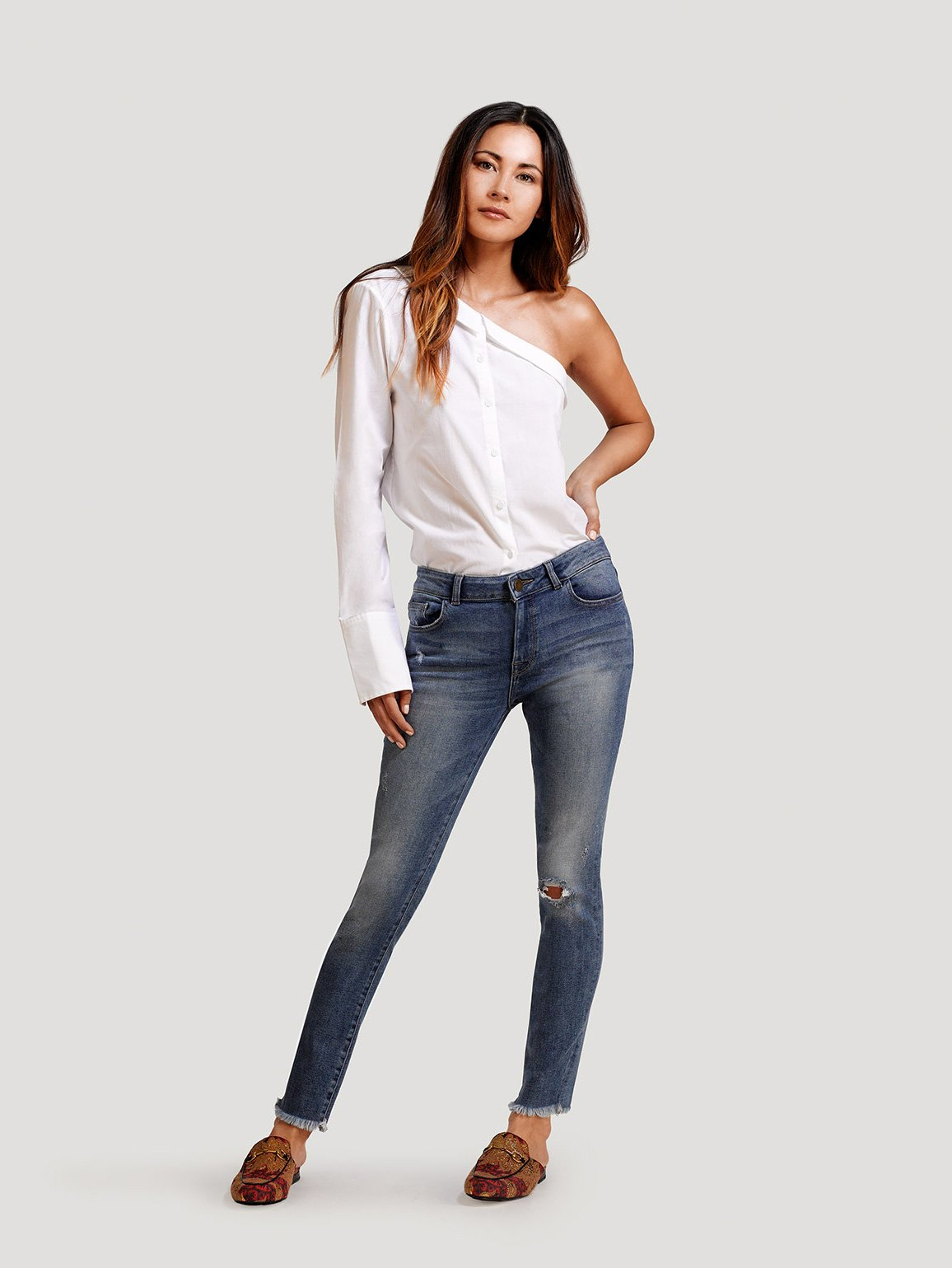Image of Margaux Mid Rise Ankle Skinny / Bolton