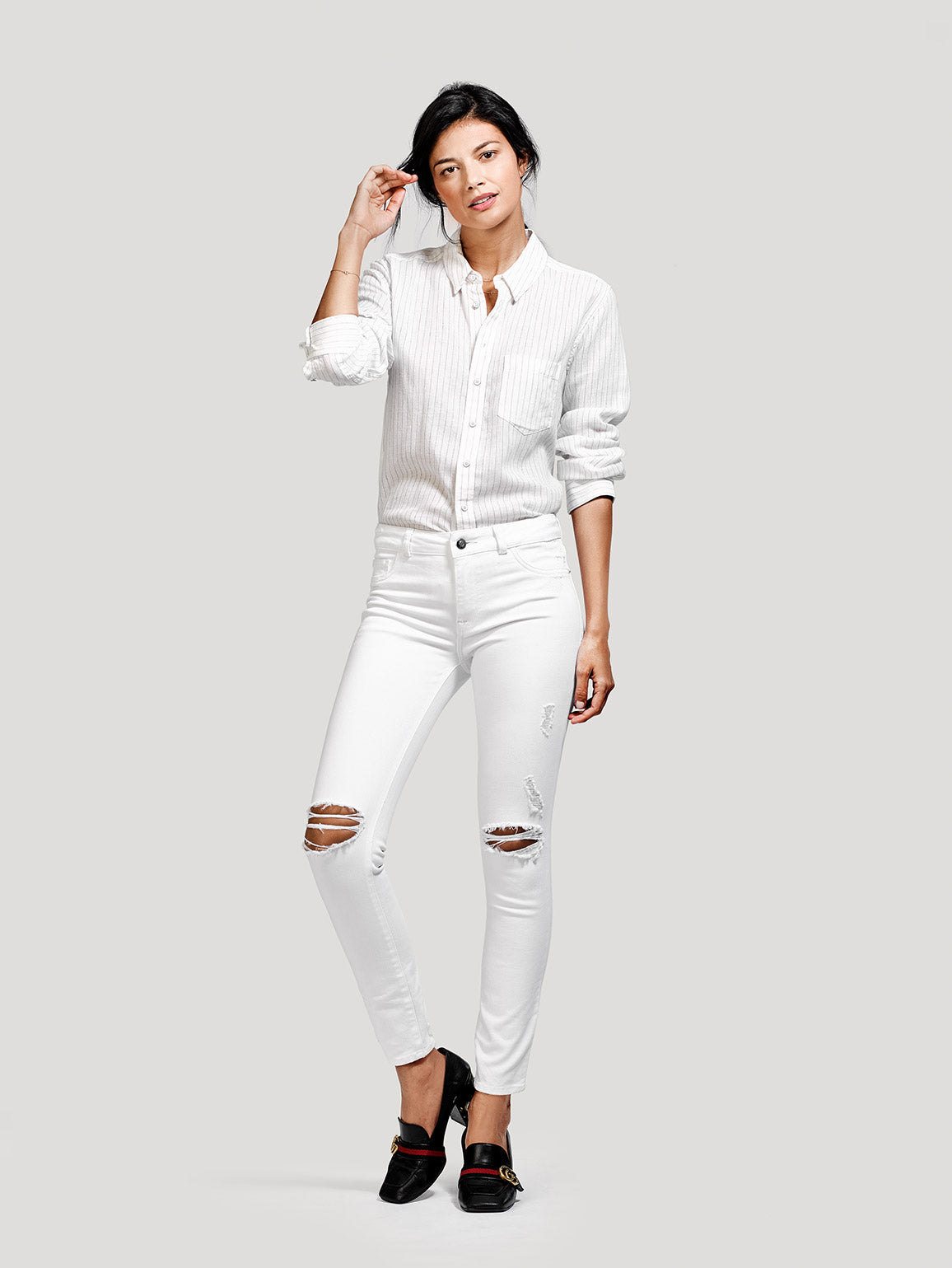 Image of Margaux Mid Rise Ankle Skinny / Pilot