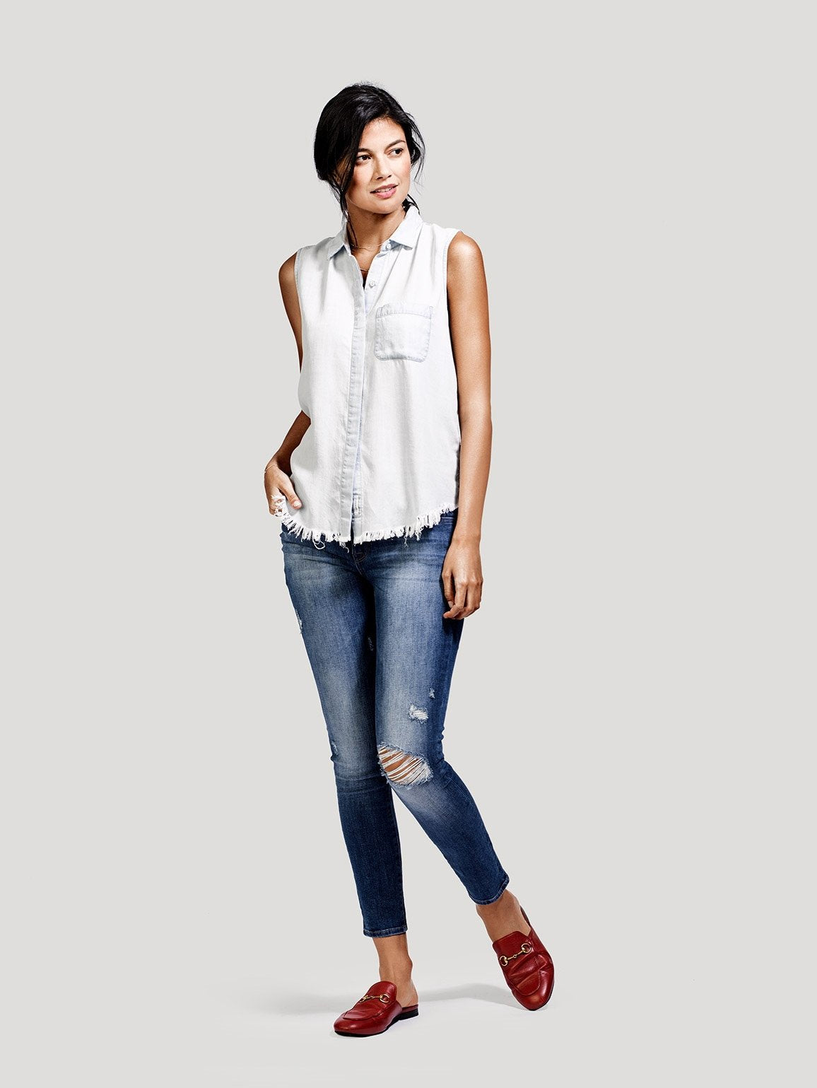 Image of Margaux Mid Rise Ankle Skinny / Stealth