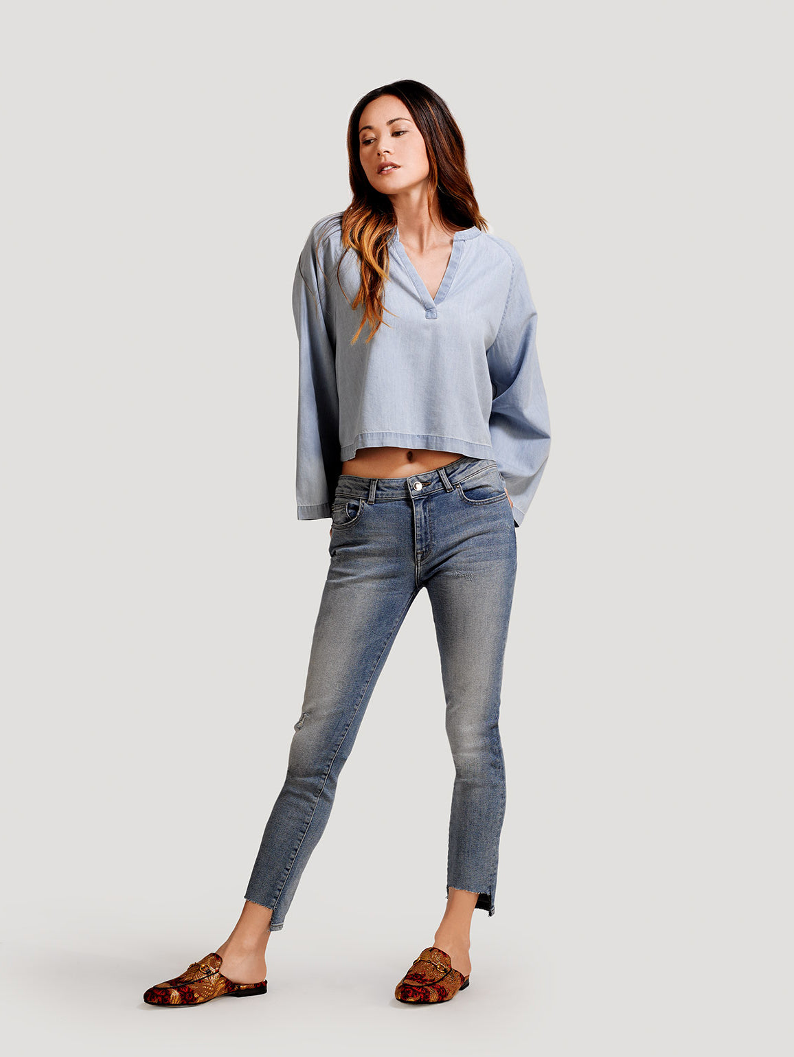 Image of Margaux Mid Rise Ankle Skinny / Marling