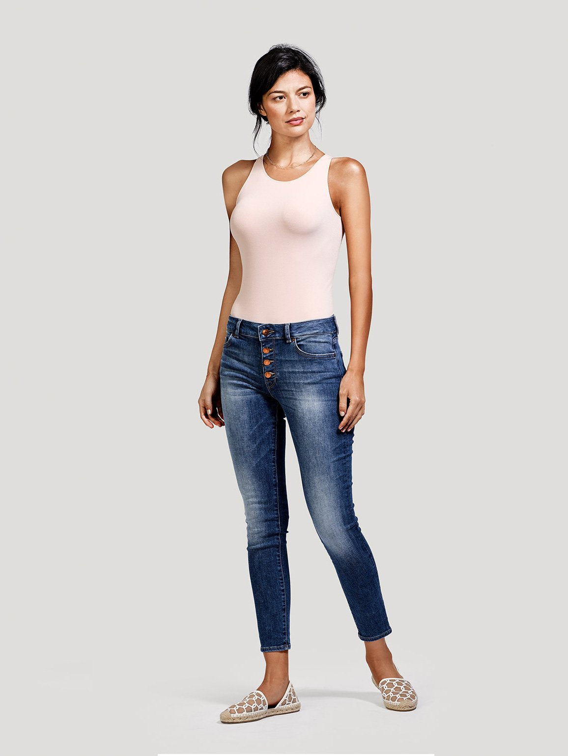 Image of Margaux Mid Rise Ankle Skinny / Steam