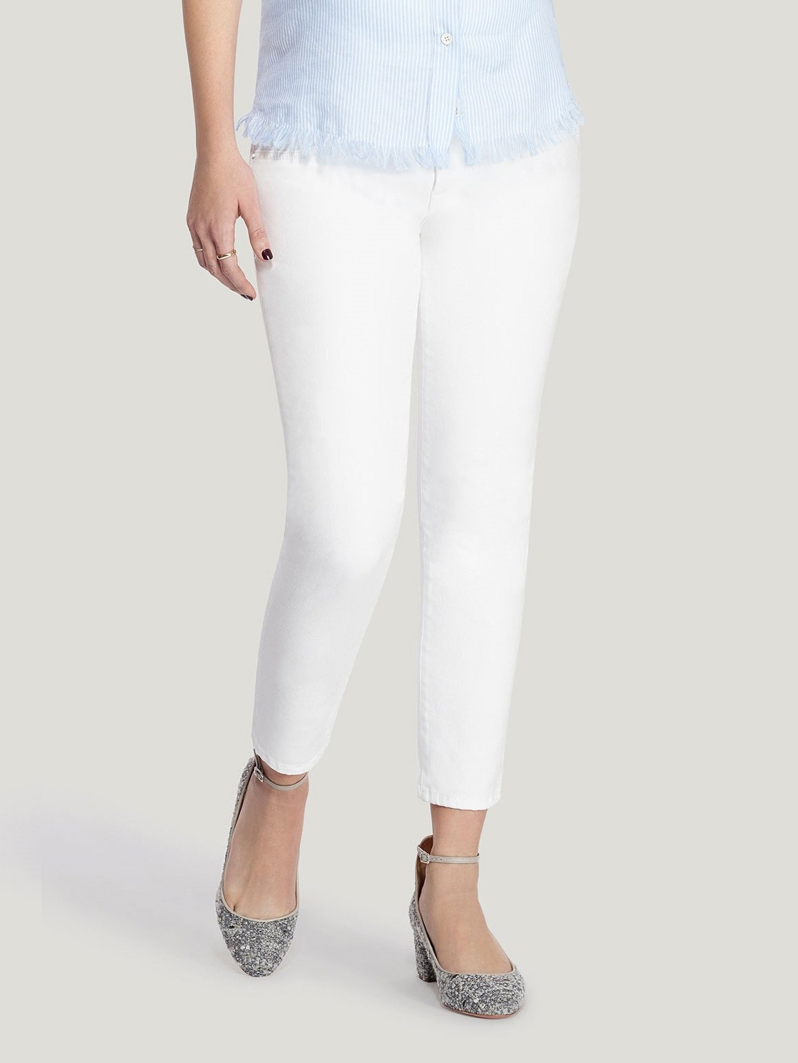 Florence Maternity Cropped Skinny | Porcelain
