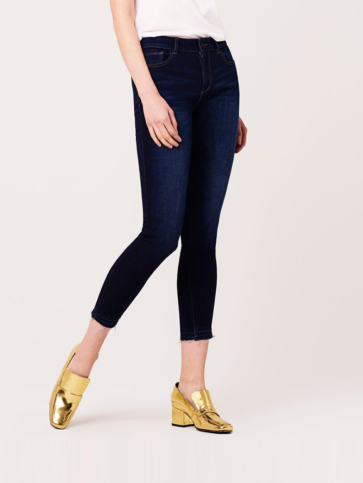 Image of Coco Mid Rise Curvy Ankle Skinny / Stoney