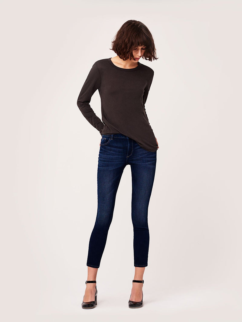 Florence Ankle Mid Rise Skinny | Hail