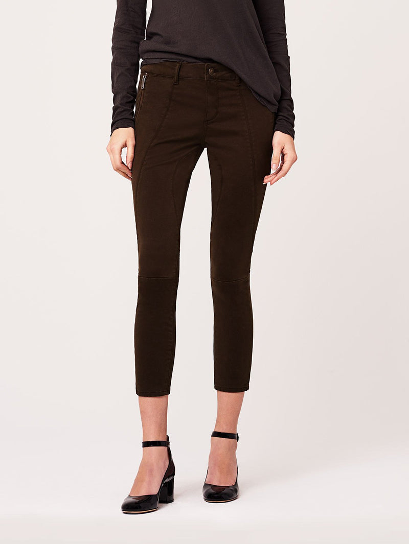Margaux Mid Rise Ankle Velvet Skinny | Dark Purple