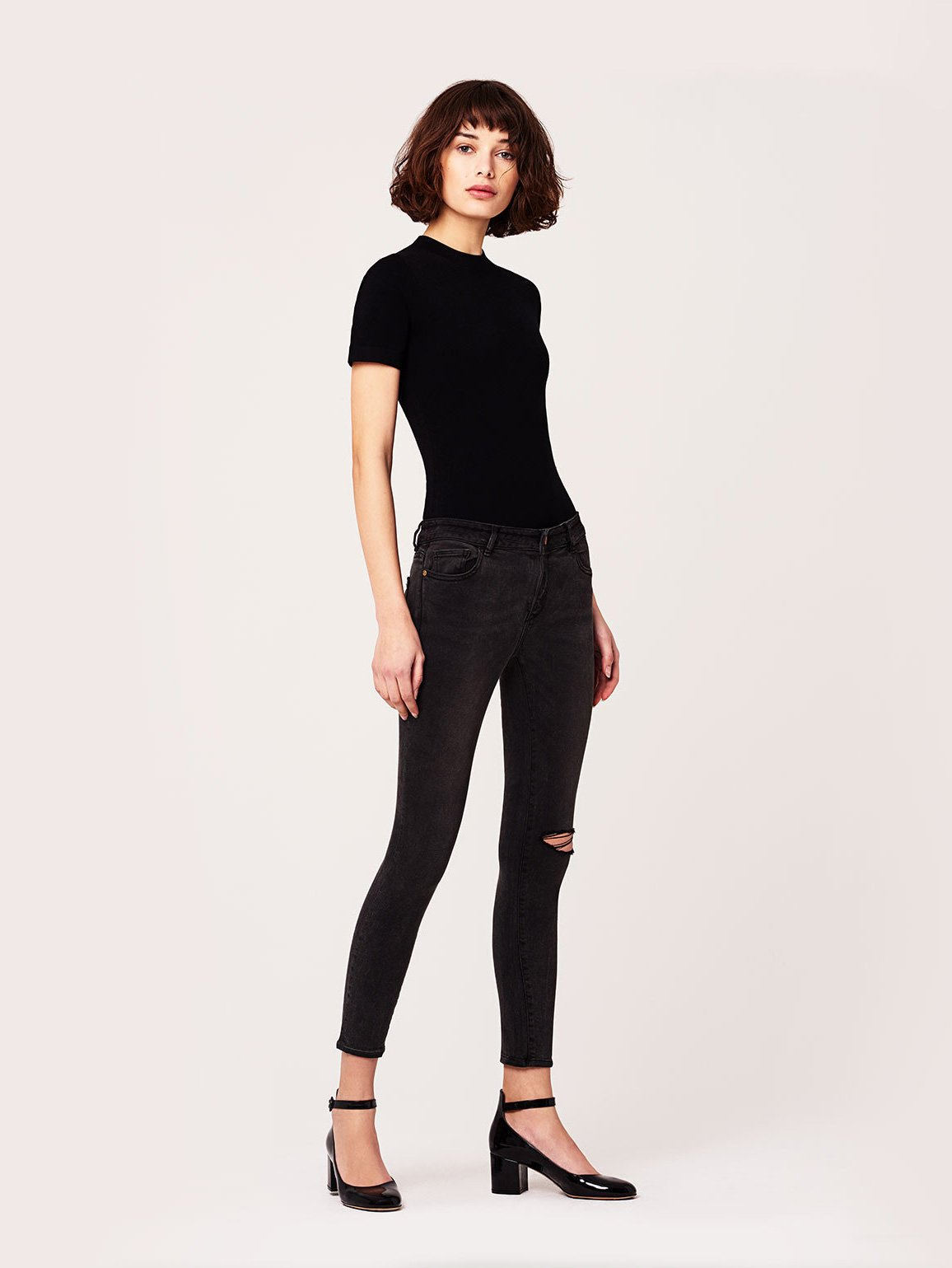 Image of Margaux Mid Rise Ankle Skinny / Smokey River