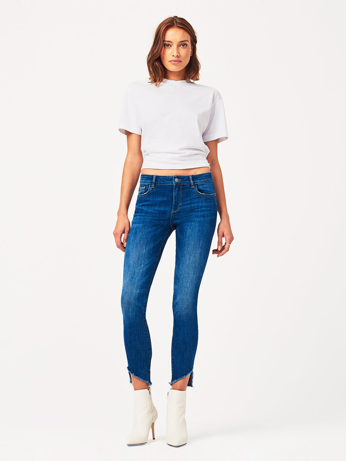 Image of Margaux Mid Rise Ankle Skinny / Crawford