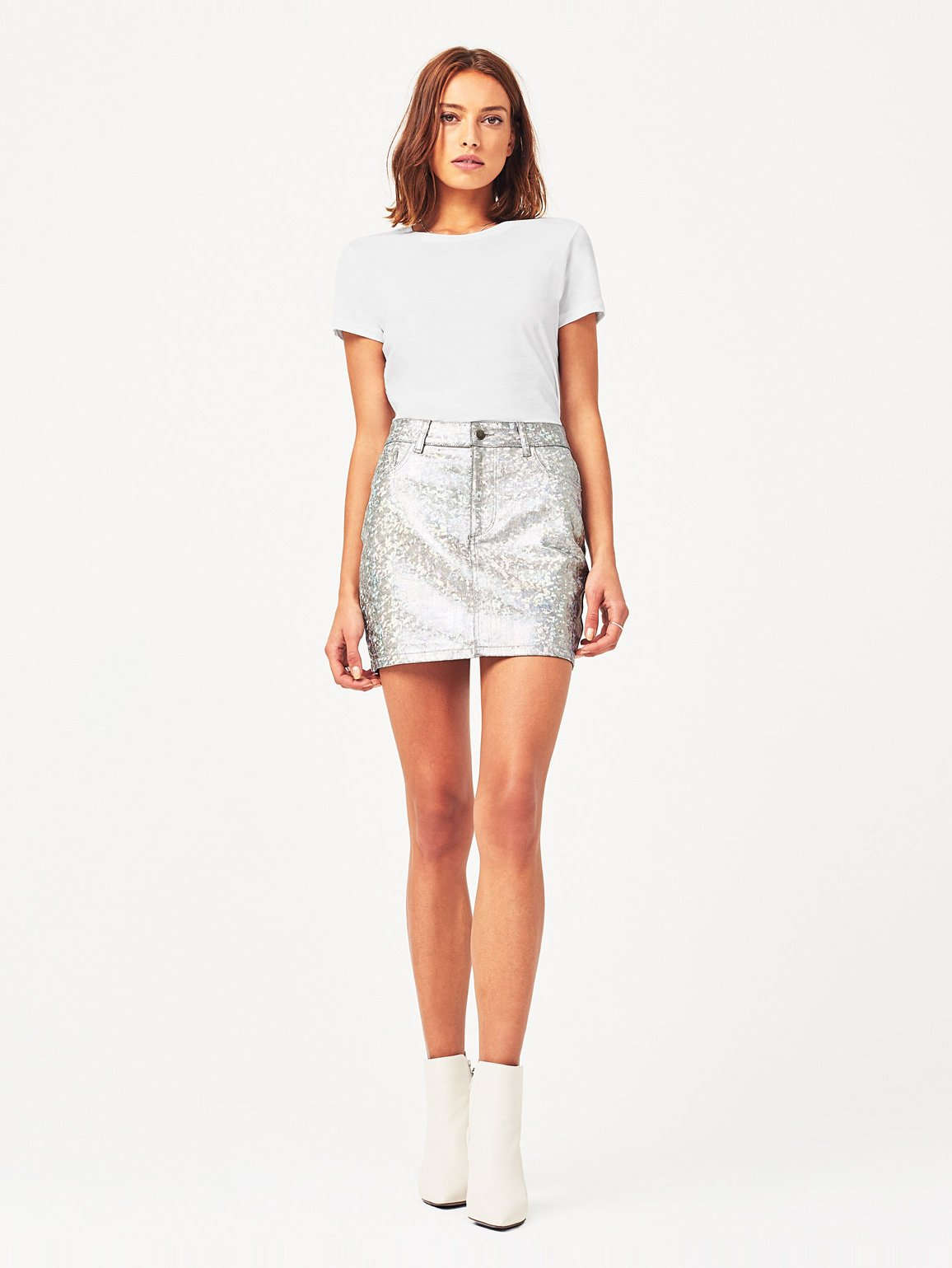 Brit Skirt | Silver Metal - DL1961