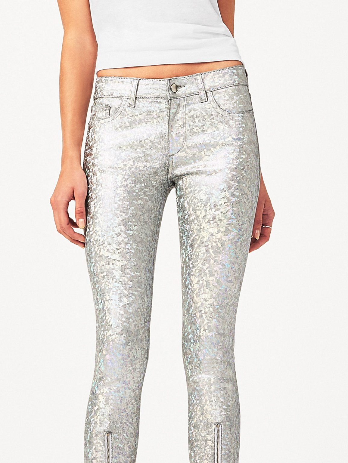 Women - Florence Instasculpt Cropped Silver Metal - DL1961