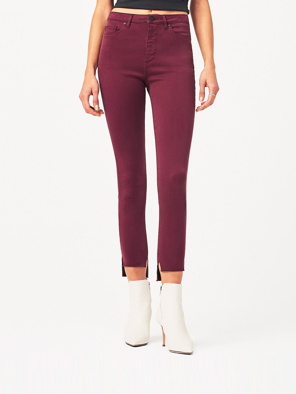 Image of Chrissy Ultra High Rise Skinny / Rouge Noir