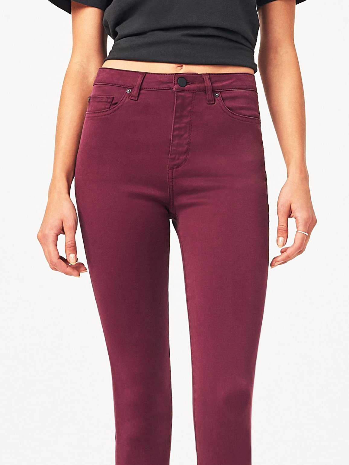 Women - Chrissy Trimtone Skinny Rouge Noir - DL1961