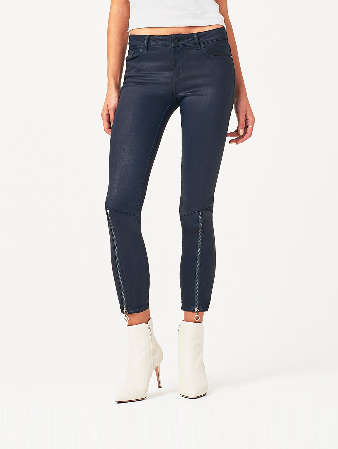 Image of Florence Crop Mid Rise Skinny / Deep Emerald