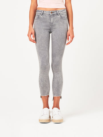 Farrow Ankle High Rise Skinny | Light Smoke