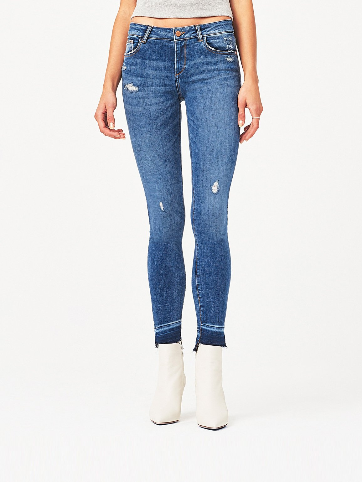 Image of Florence Mid Rise Skinny / Rosewood