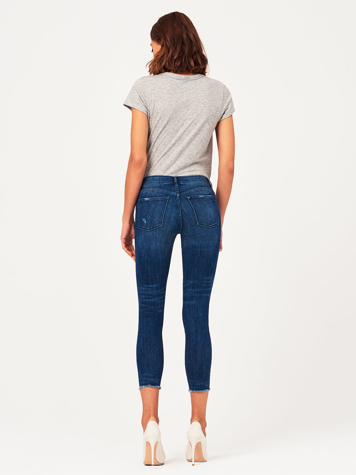 Florence Crop Mid Rise Skinny Slater