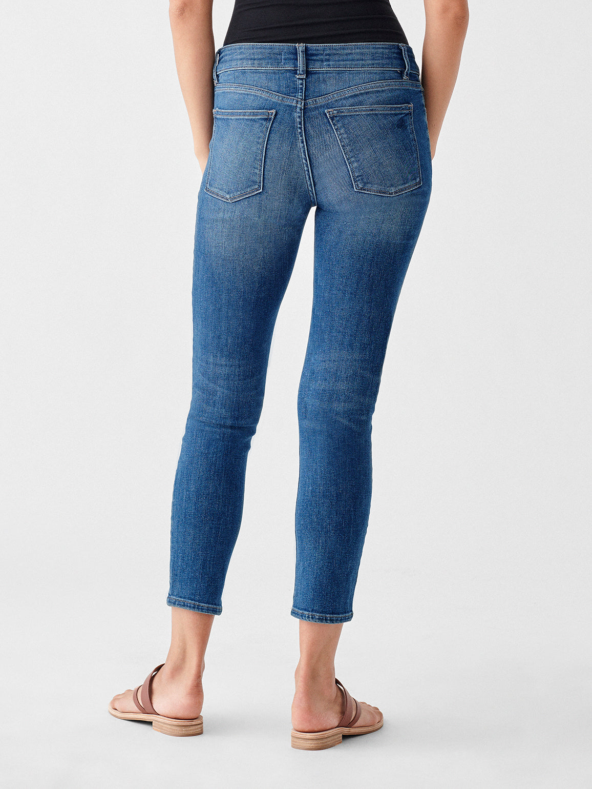 Florence Crop Mid Rise Skinny | Everglade