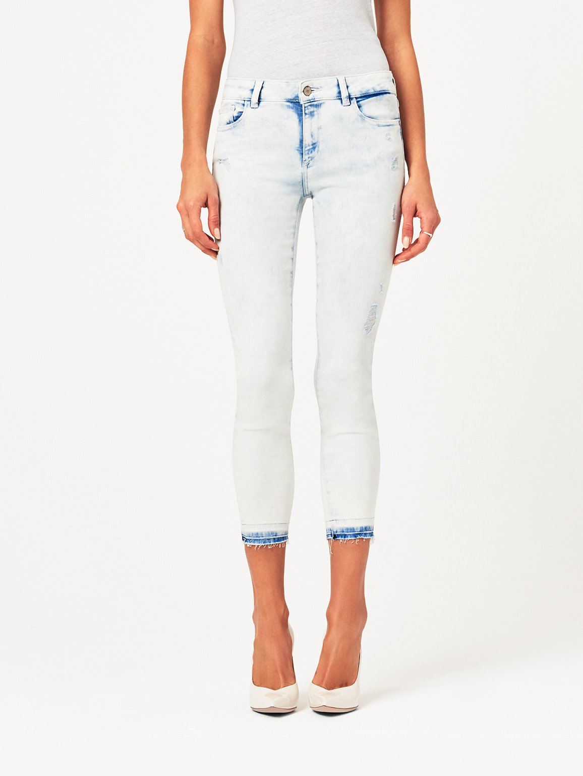 Image of Florence Crop Mid Rise Skinny / Mitchell