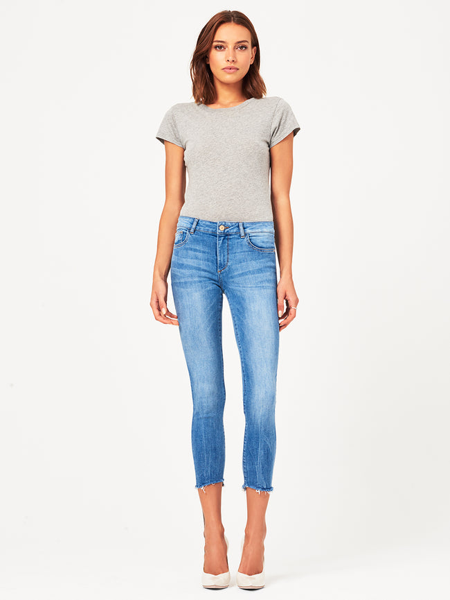 Florence Crop Mid Rise Skinny Cavalier