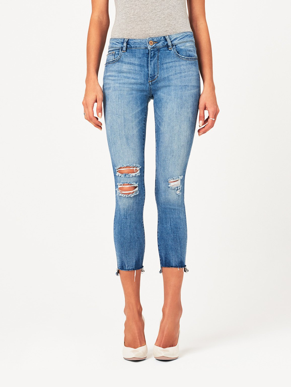 Image of Florence Crop Mid Rise Skinny / Hendrix