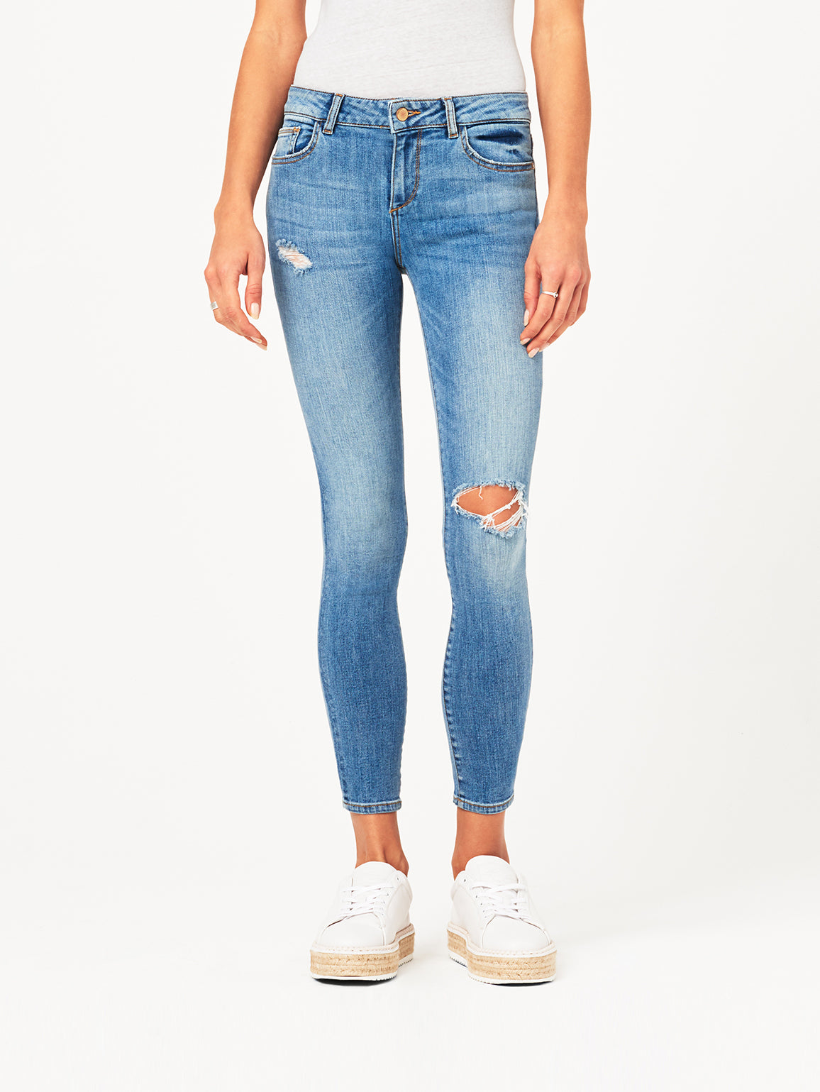 Image of Margaux Mid Rise Ankle Skinny / Quincy