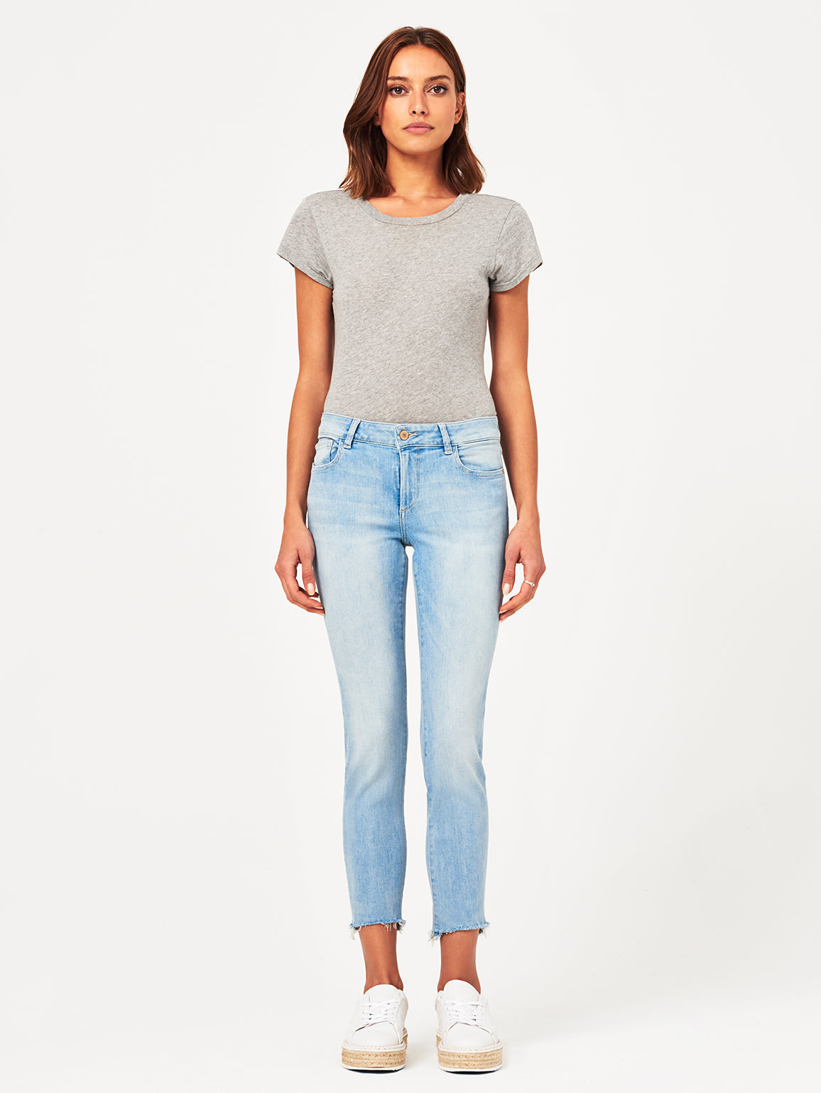 Coco Mid Rise Curvy Ankle Skinny | Kelso DL 1961 Denim