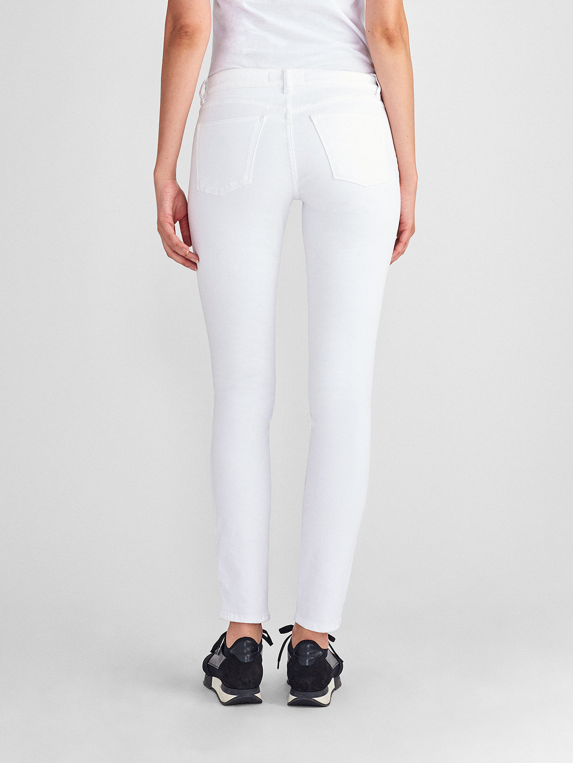 Florence Mid Rise Skinny Porcelain