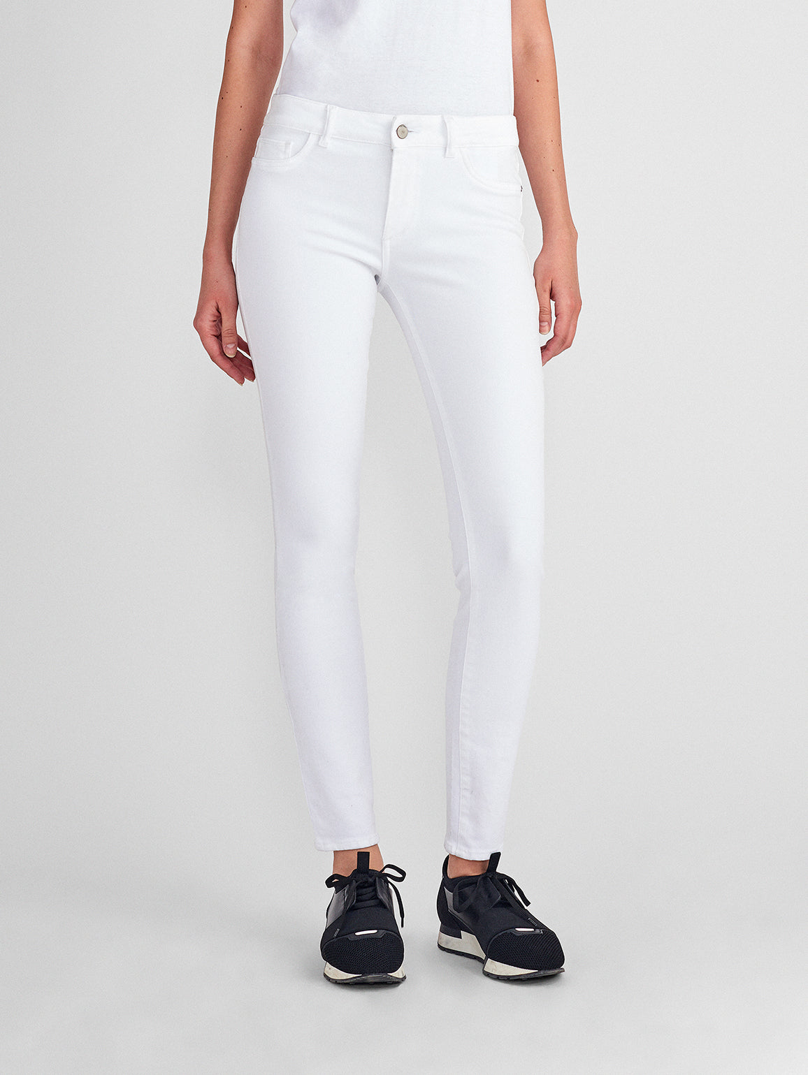 Florence Mid Rise Skinny | Porcelain