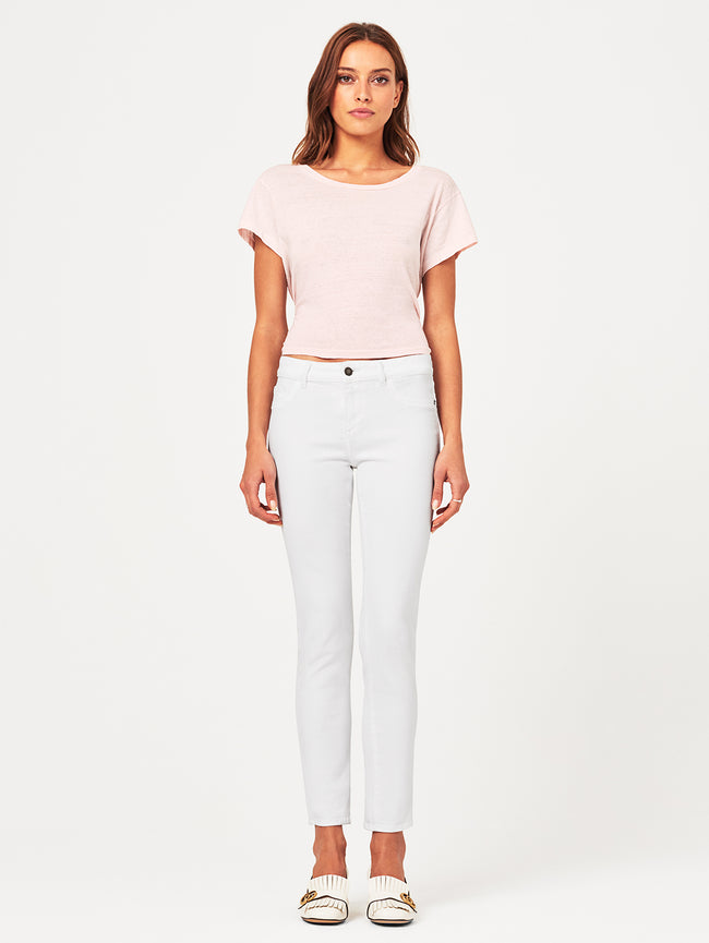 Angel Mid Rise Skinny | White DL 1961 Denim