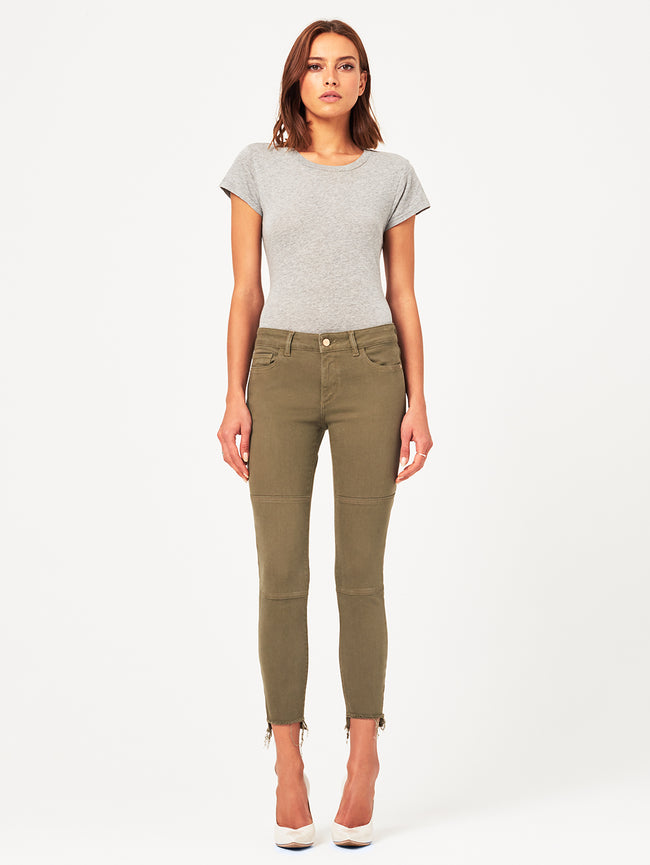 Margaux Mid Rise Ankle Skinny | Cargo Green