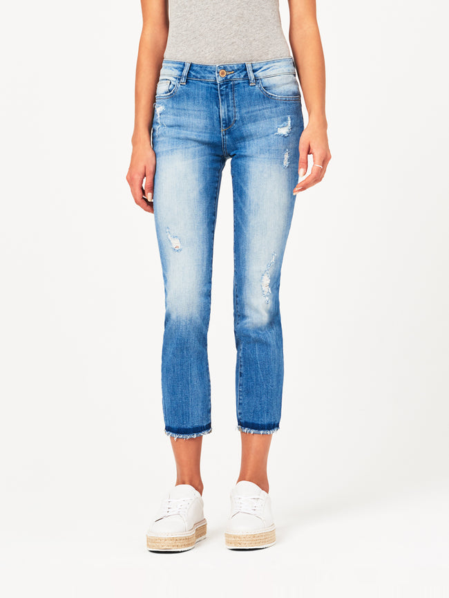 Mara Ankle Mid Rise Straight | Montague DL 1961 Denim