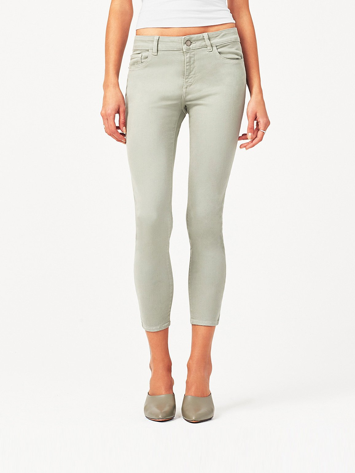 Image of Florence Crop Mid Rise Skinny / Grove