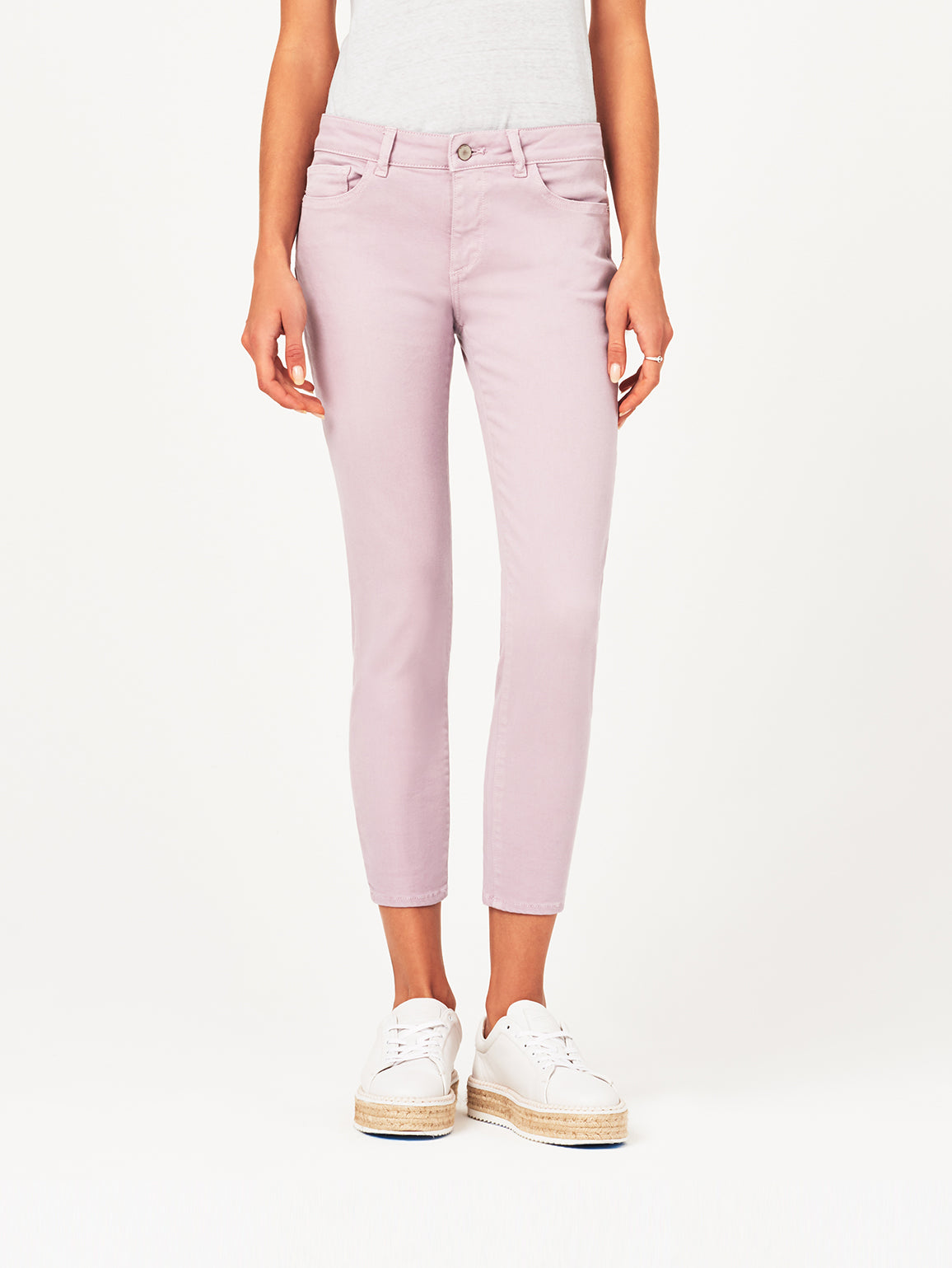 Image of Florence Crop Mid Rise Skinny / Magnolia
