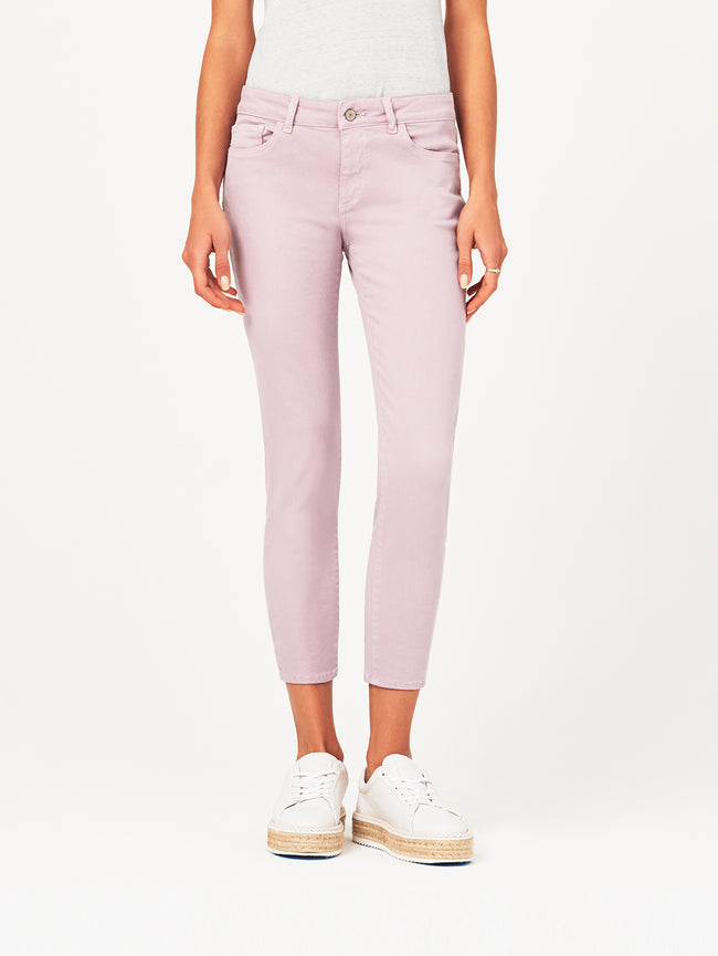 Florence Crop Mid Rise Skinny Magnolia