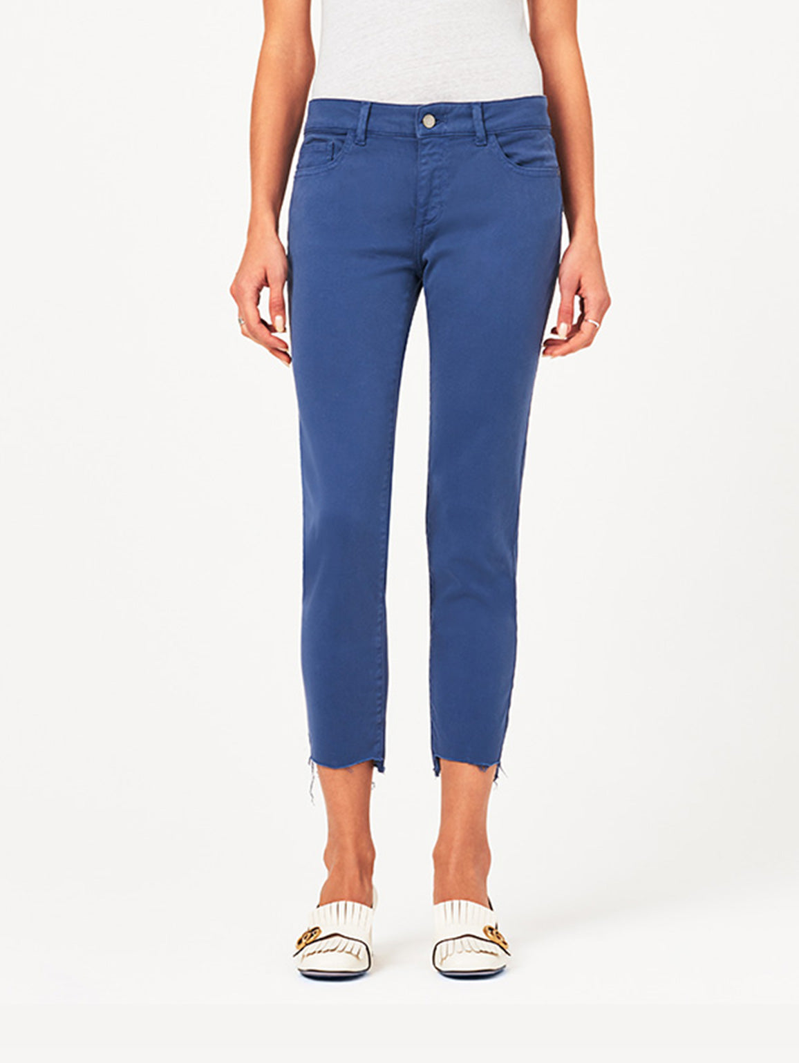 Image of Florence Crop Mid Rise Skinny / Bluebell