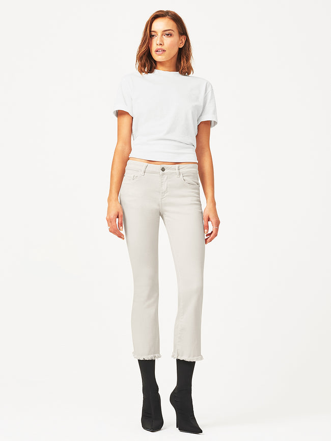Lara Mid Rise Cropped Flare | Bone DL 1961 Denim