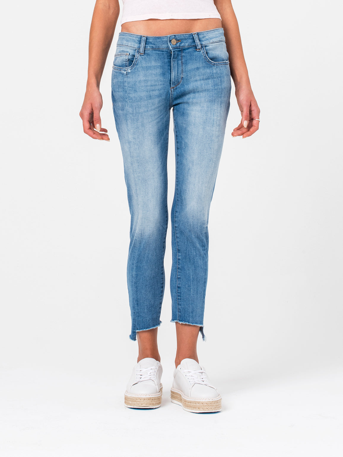 Image of Florence Crop Mid Rise Skinny / New Town