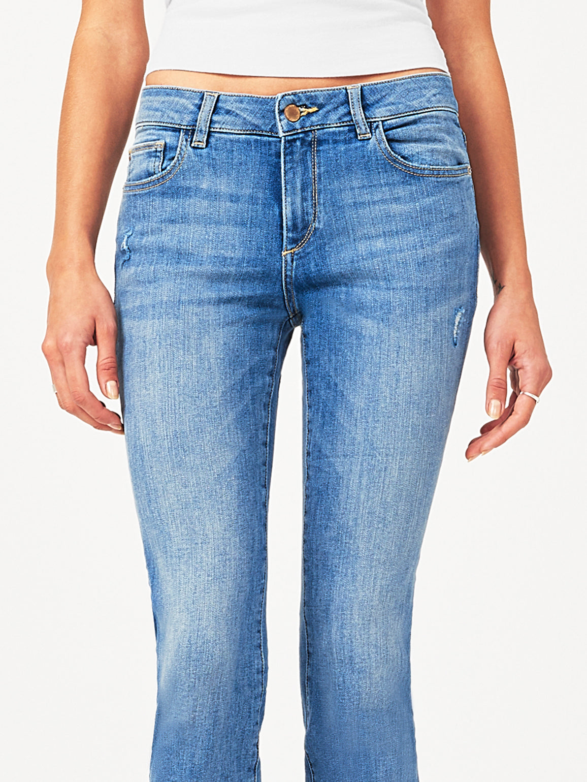 Mara Ankle Mid Rise Straight | Upstate DL 1961 Denim