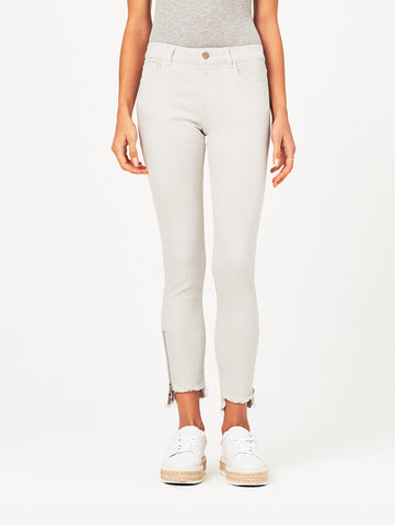 Margaux Mid Rise Ankle Skinny | Porcelain
