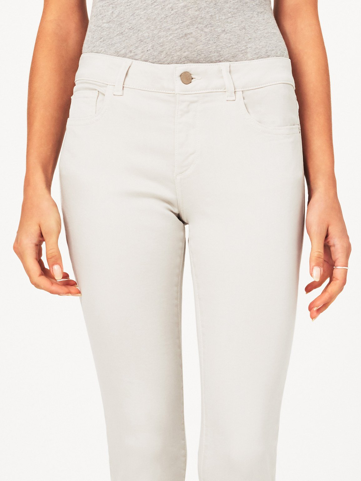 Margaux Mid Rise Ankle Skinny | Bone DL 1961 Denim