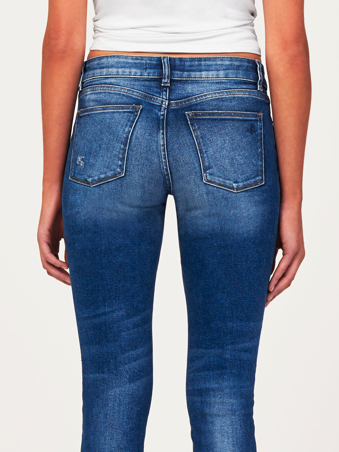 Florence Crop Mid Rise Skinny Harbor